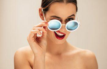 okulary a kształt brwi